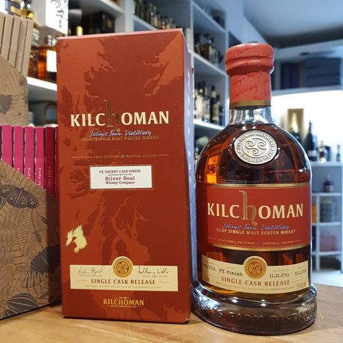 Kilchoman Whisky SILVER SEAL Whisky Company 2011 PX SHERRY CASK STRENGTH single cask scotch single malt whisky 0,7l 57% single cask Release