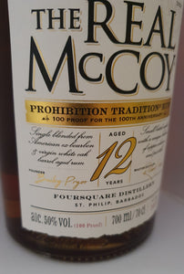 The Real McCoy - 12 Years 100 Proof 100th Anniversary Prohibition 50% 0.7 L Special Edition Barbados Foursquare 2020