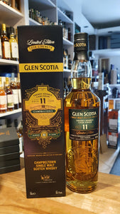 Glenscotia 11 Finished sherry PX + Oloroso sherry cask strength single malt scotch whisky Campbeltown 0,7l 54,1 %