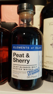 Elements of islay Peat & sherry Islay blend scotch whisky 0,5l 58.2 %