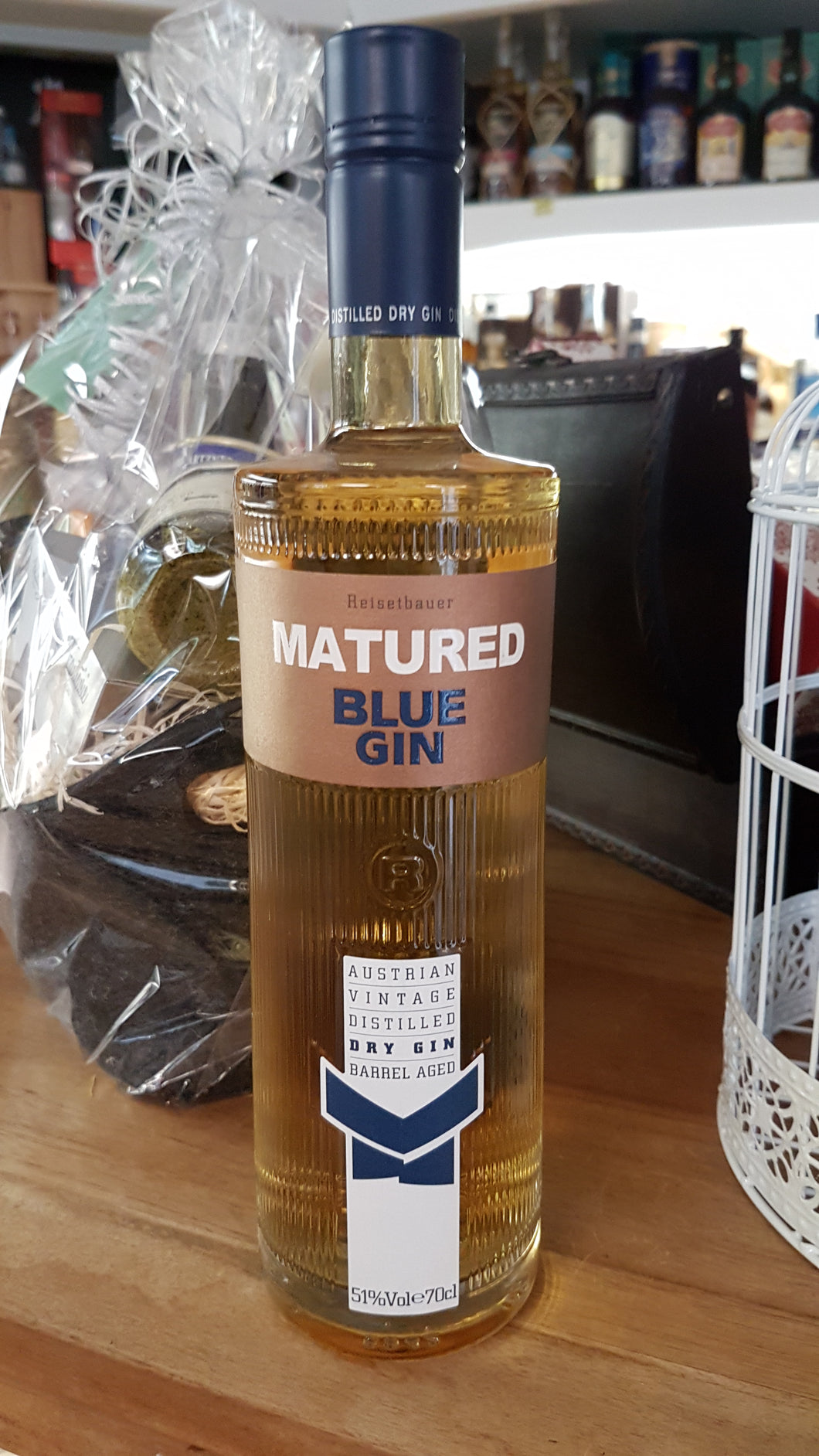 Blue Gin barrel aged Navy strength 0.7 51%