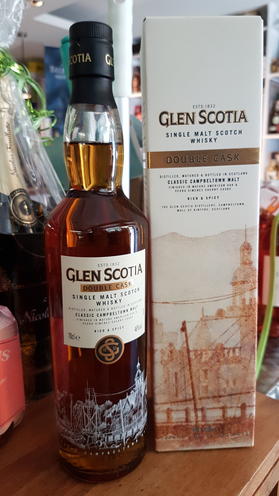 Glenscotia double cask bourbon sherry single malt scotch whisky  0.7l Fl 46%