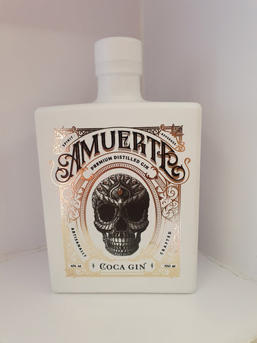 Amuerte Coca Leaf Gin white Edition 0,7l 43% Flasche limitierte Edition