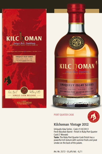 Ausverkauft Kilchoman Whisky an Geamhradh cask Edition Uniquely Islay Series 2020 Vintage 2012 2110 Ruby Port cask single cask scotch whisky 0,7l 55,6 % Fassstärke