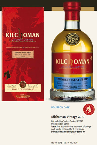 Kilchoman Whisky an Geamhradh cask Edition Uniquely Islay Series 2020 Vintage 2010 425 fresh Bourbon cask single cask scotch whisky 0.7l 56,5 % Fassstärke