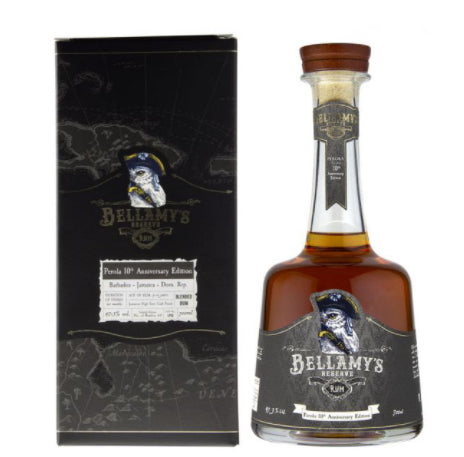 Bellamy's Reserve Rum 0,7l Jamaican High Ester Cask Finish Perola 10th Anniversary Edition 47.3% mit Geschenkpackung