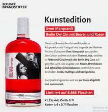 Load image into Gallery viewer, Brandstifter Gin Kunst Edition 0.7l 41,3% Fl limited Edition online shopping Ergebnis finden online kaufen