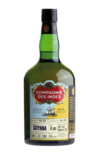RUM CDI Compagnie de indes Guyana Single Cask 8 yo Jamaica Rum (diamond Distillery)  0,7l 43%