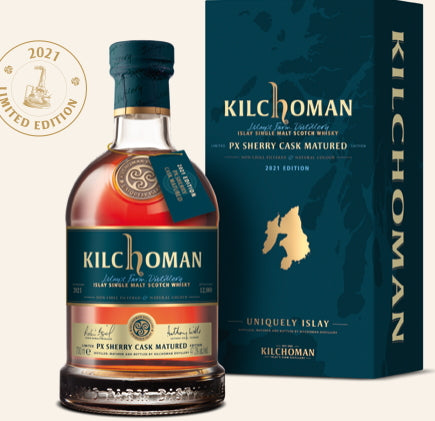Kilchoman Whisky Spring II PX 2021 100% Sherry Fassgelagerter Islay Schottland single malt scotch whisky 0.7l 47,3%