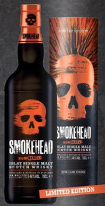 Smokehead  Whisky Islay single malt Rebel Edition Rum fass gelagert 0,7l  48% mit Dose