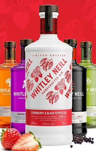 Whitley Neill Strawberry & black Pepper Gin Edition 0.7l 43% Flasche limitierte Edition