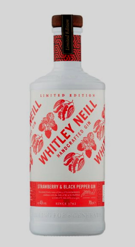 whitley neill gin strawberry & black pepper limited edition inn-out