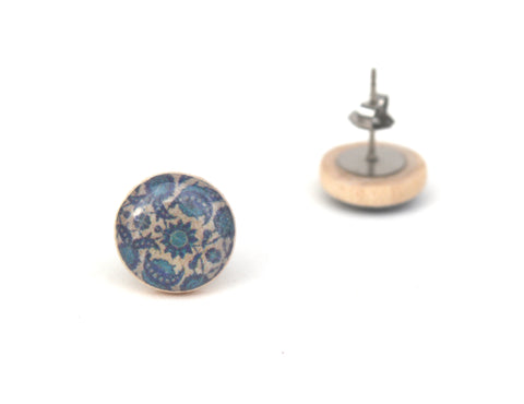 Tiny Blue Flower stud earrings Hypoallergenic