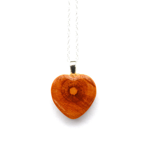 Heart pendant Natural wood pendant by Starlight Woods