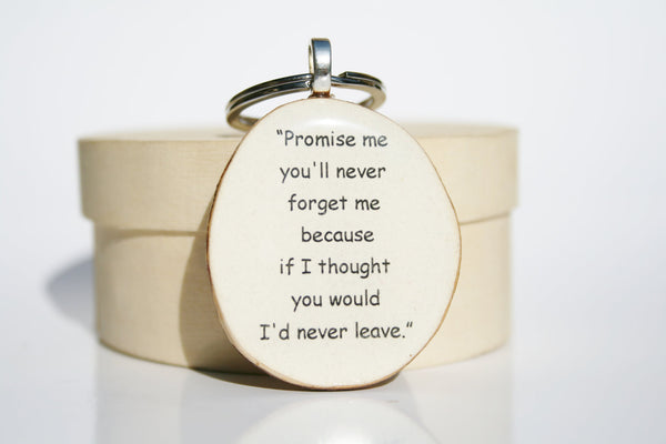 Inspirational key chain graduation gift  going away gift winnie the pooh quote key chain key charm nature gift eco friendly