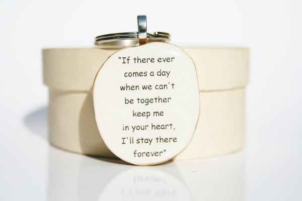 Inspirational key chain going away gift winnie the pooh quote love key chain key charm nature gift eco friendly