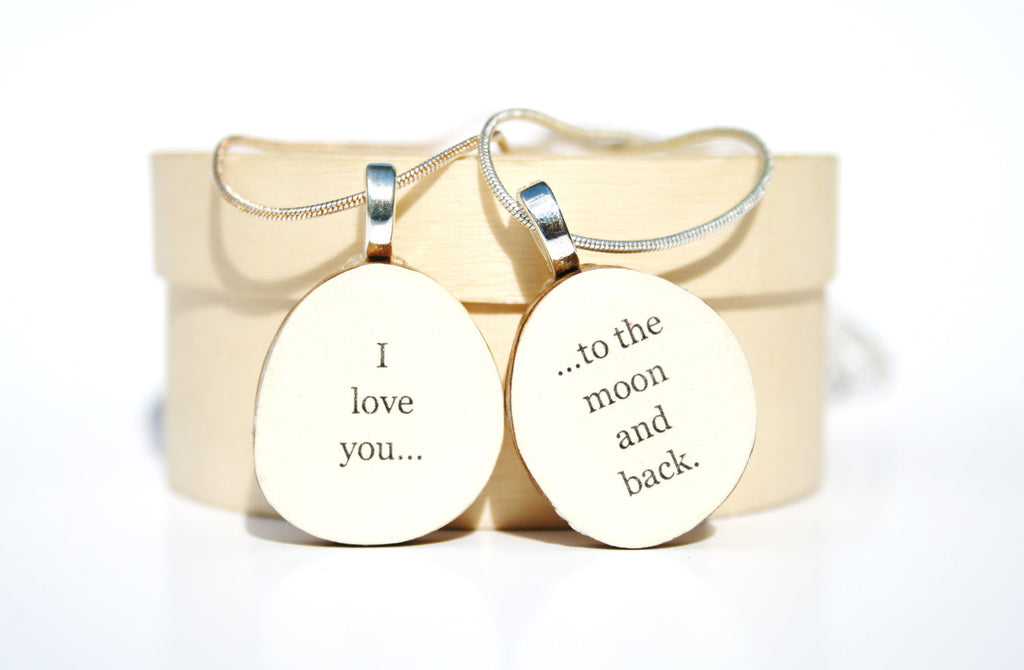 mother daughter necklace set personalized jewelry gift going away