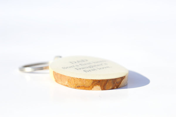 father key chain dad gift valentines day gift for dad key chain key charm nature gift eco friendly