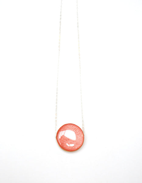 Coral cirlce statement necklace bubble necklace geometric jewelry spring jewelry eco friendly jewelry starlightwoods