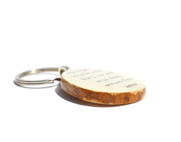 Dad key chain dad gift fathers day gift for dad key charm gift for father nature gift eco friendly