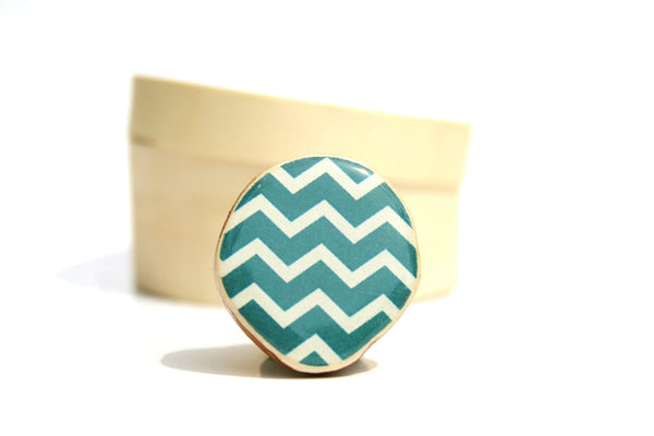 Deep sea Chevron ring, statement ring, wood jewelry adjustable ring, geometric wood ring Minimalist jewelry, cocktail ring eco friendly