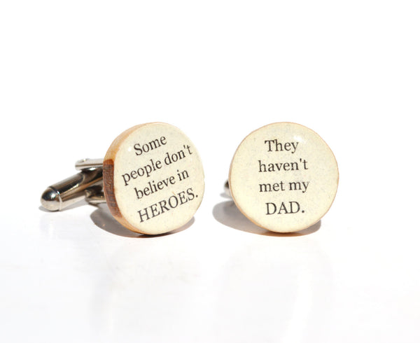 Dad cufflinks fathers day gift wood cuff links dad gift eco friendly mens accessory gift for men