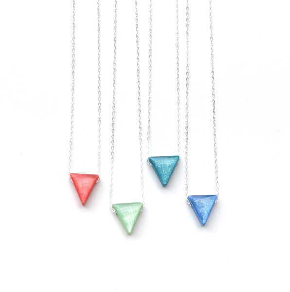 Eco friendly triangle necklace geometric jewelry minimalist eco friendly jewelry bridesmaid jewelry summer jewelry starlightwoods