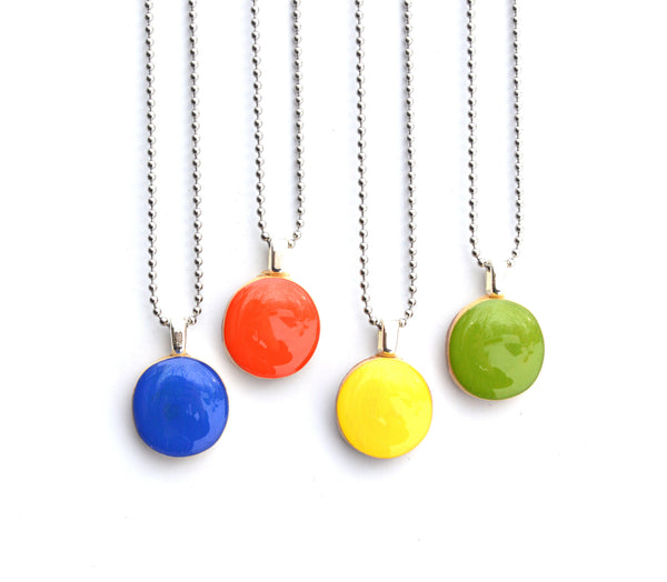 Spring brights pendant necklace wood necklace eco friendly jewelry starlight woods long necklace