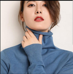 New Autumn Winter Soft Cashmere turtleneck Pullovers Sweaters female 2019 Korean Slim-fit pull sweater womens clothing Pullovers