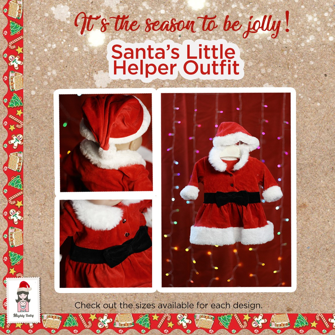 Santa's Little Helper Outfit - Mighty Baby PH