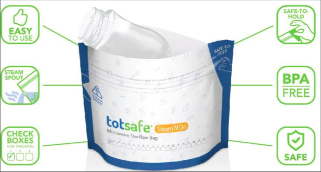 Totsafe Steam 'N Go Microwave Bags - Mighty Baby PH