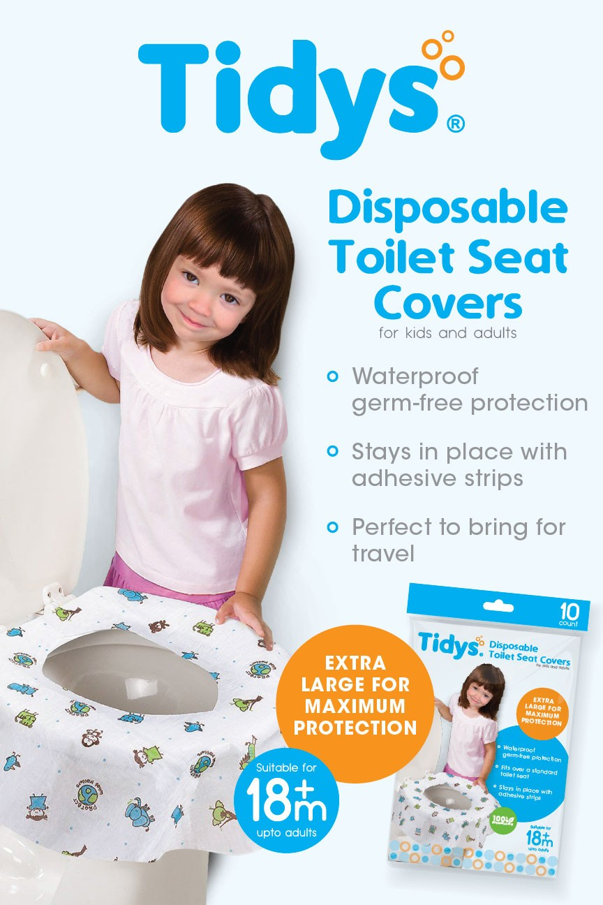 Tidys Disposable Toilet Seat Covers 10s - Mighty Baby PH
