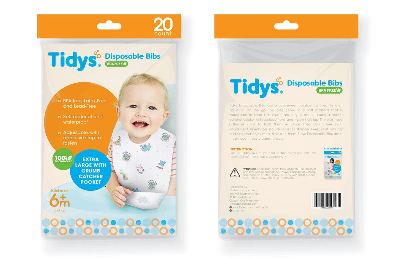 Tidys Disposable Bibs 20s - Mighty Baby PH