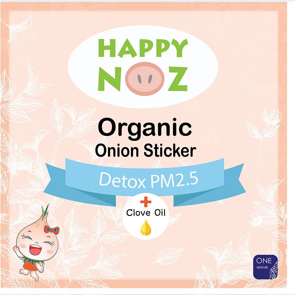 Happy Noz Organic Onion Sticker Detox PM 2.5 4's - Mighty Baby PH