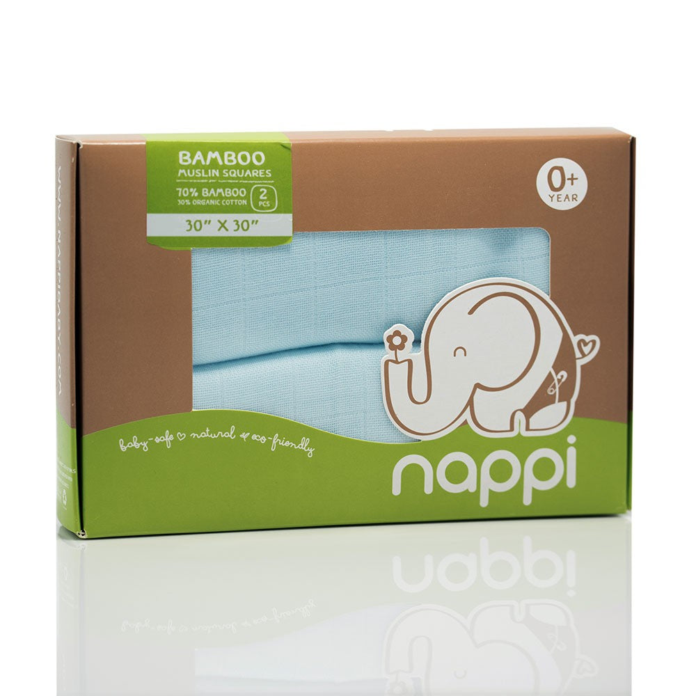 Nappi Baby Muslin Squares 2's - Mighty Baby PH