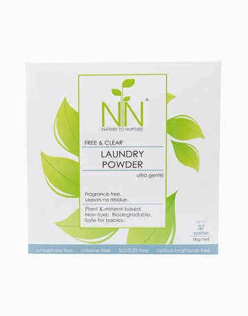 Nature To Nurture Free & Clear Laundry Powder Ultra Gentle 1kg - Mighty Baby PH