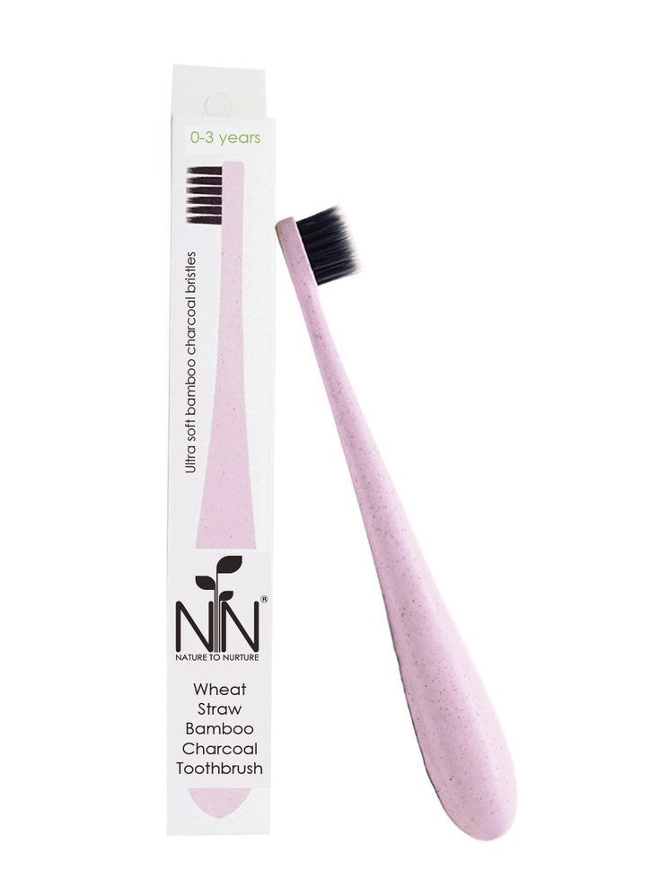 Nature to Nurture Wheat Straw Bamboo Charcoal Toothbrush - Mighty Baby PH