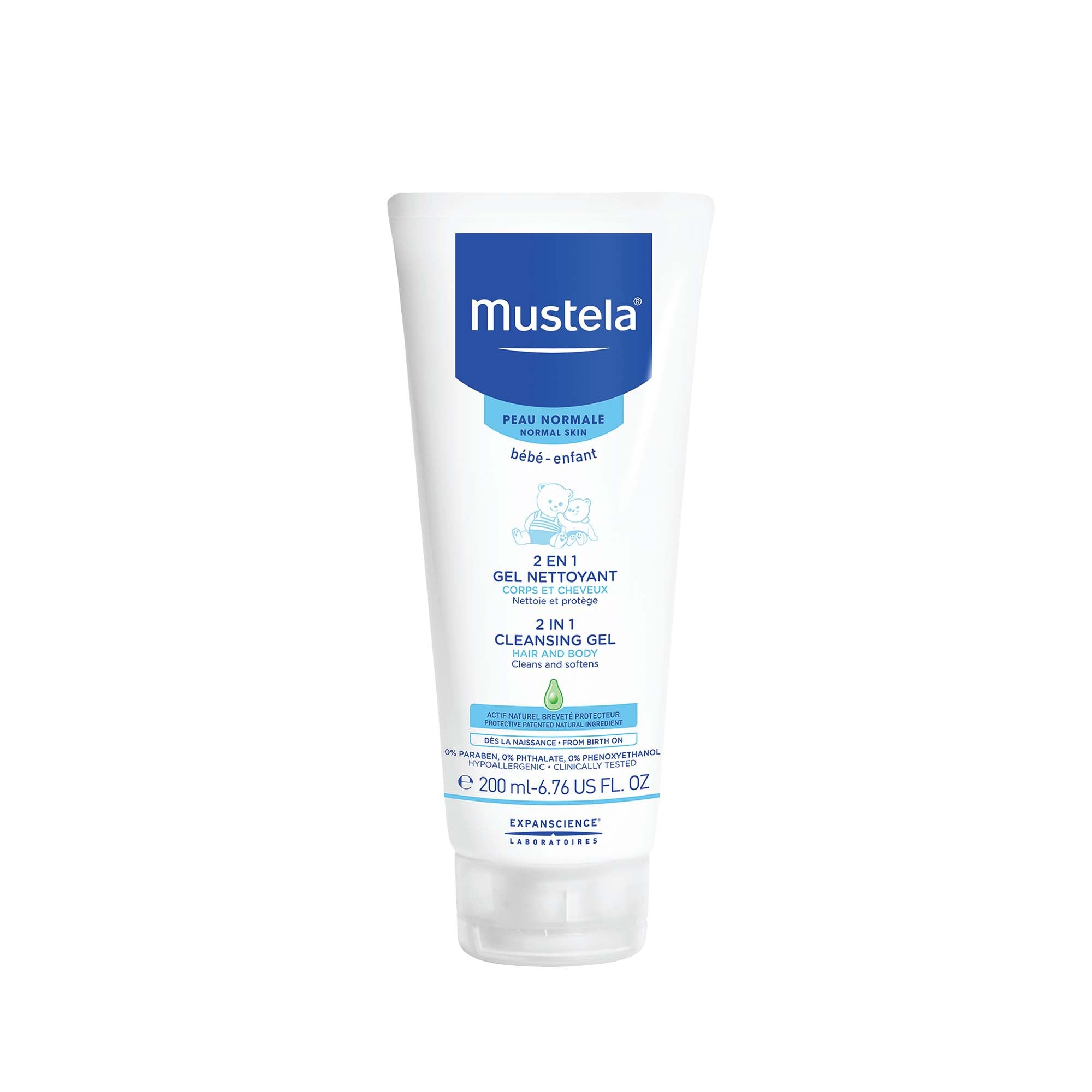 Mustela 2 in 1 Cleansing Gel 200ml (Normal Skin)