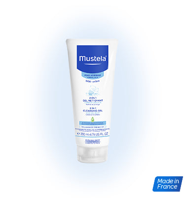 Mustela 2 in 1 Cleansing Gel 200ml (Normal Skin) - Mighty Baby PH