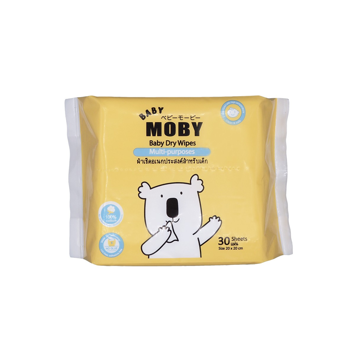 Baby Moby Dry Wipes 30s - Mighty Baby PH