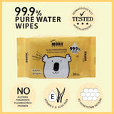 Baby Moby 99.9% Pure Water Wipes - Mighty Baby PH