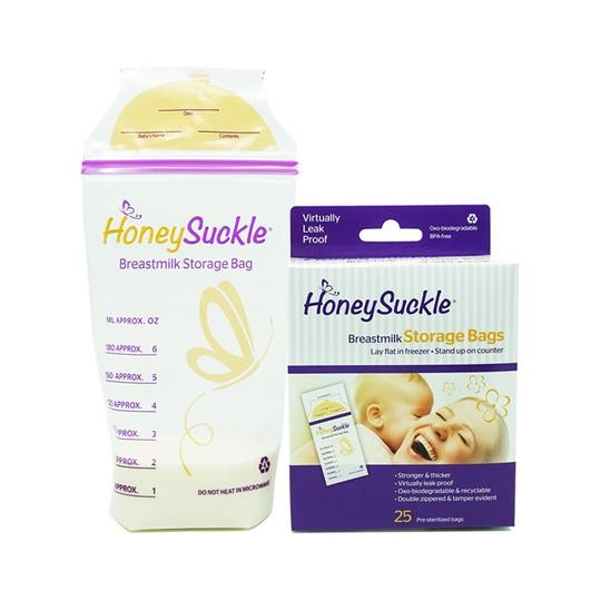 Honeysuckle Small Breastmilk Bags - 6 oz (25 pcs) - Mighty Baby PH
