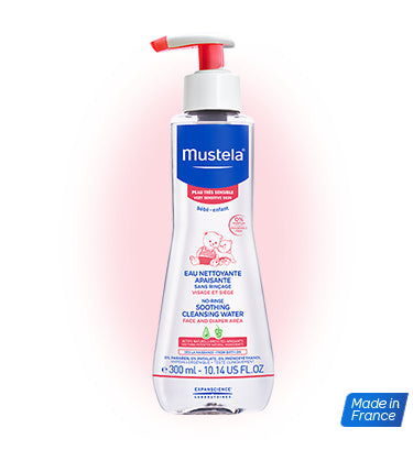 Mustela No Rinse Soothing Cleansing Water  300ml (Sensitive Skin) - Mighty Baby PH