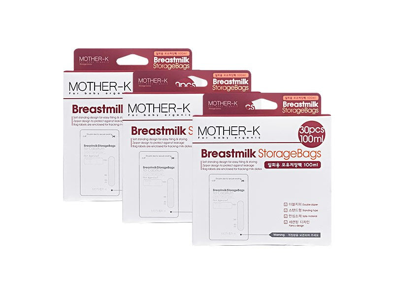Mother-K Breastmilk Bag 100ml - BUNDLE OF 3 - Mighty Baby PH