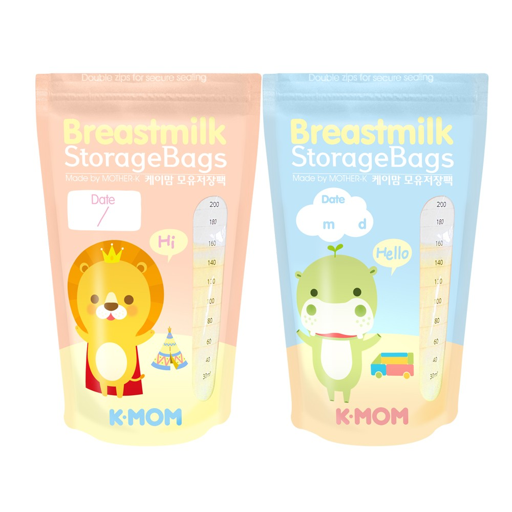 K-MOM BREASTMILK BAG 200ML (20 PCS) - Mighty Baby PH
