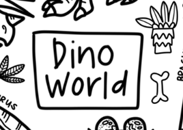 DrawnBy Washable Silicone Coloring Mat - Dino World