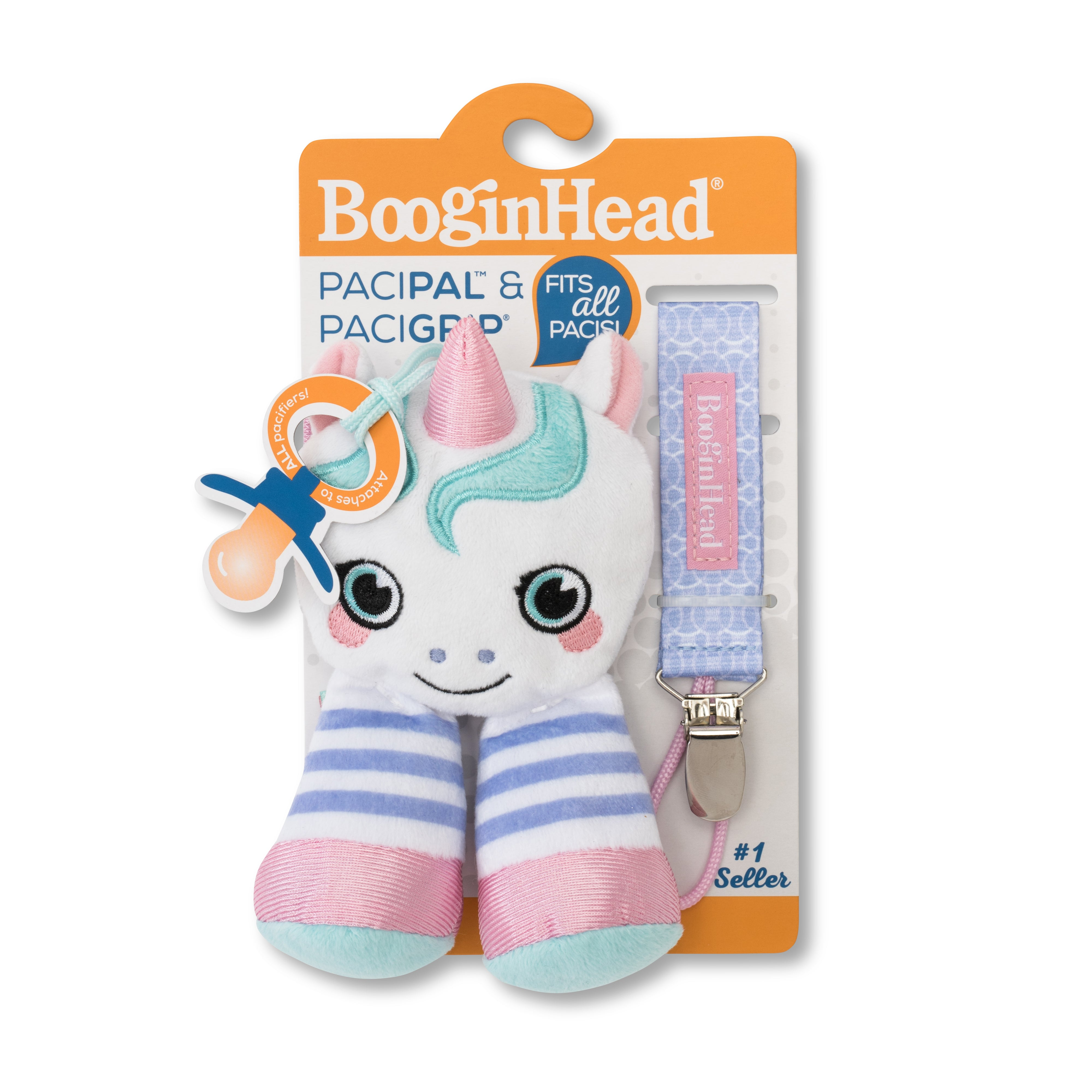 Booginhead PaciPal Combo 2pc Set - Unicorn