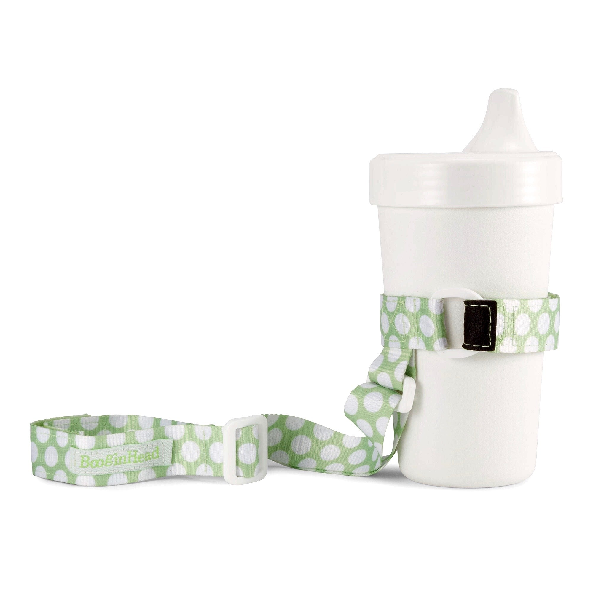Booginhead SippiGrip for Cup, Bottle, & Toy Teether - Delicate Dot Green