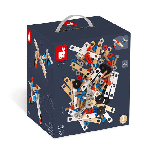 Janod Brico'Kids DIY Barrel - 50 Pieces