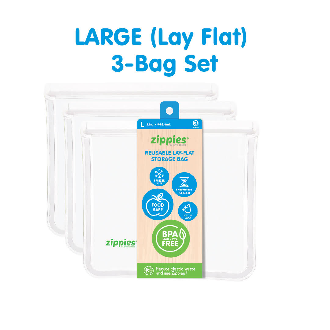 Zippies Reusable Lay Flat Bags